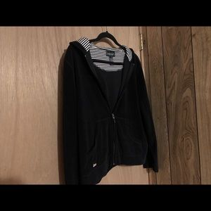 Ralph Lauren / Lauren Jeans Co Black Soft Zip Up
